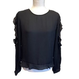 CLEO PETITES LONG SLEEVE TOP SIZE MP NWOT